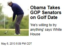 Obama Takes GOP Senators on Golf Date