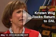 Kristen Wiig Rocks Return to SNL