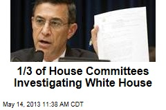 1/3 of House Committees Investigating White House