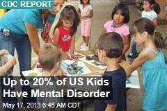 Up to 20% of US Kids Have Mental Disorder