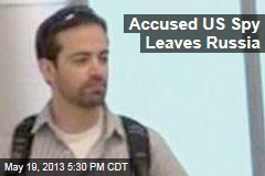 Accused US Spy Leaves Russia