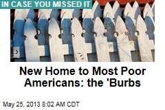 Most US Poor Now in the 'Burbs
