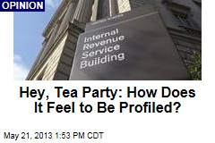 Hey, Tea Party: How Does it Feel to Be Profiled?