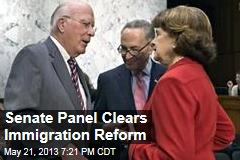 Senate Panel Clears Immigration Reform