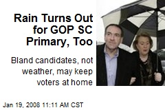 Rain Turns Out for GOP SC Primary, Too