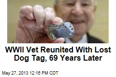 WWII Vet Reunited With Lost Dog Tag, 69 Years Later