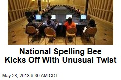 National Spelling Bee Kicks Off With Unusual Twist