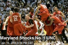 Maryland Shocks No. 1 UNC