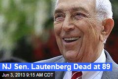 NJ Sen. Lautenberg Dead at 89
