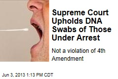 Supreme Court Upholds DNA Swabs of Those Under Arrest