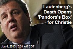 Lautenberg's Death Opens 'Pandora's Box' for Christie