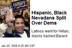 Hispanic, Black Nevadans Split Over Dems