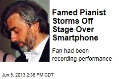 Famed Pianist Storms Off Stage Over Smartphone