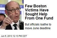 Few Boston Victims Have Sought Help From One Fund