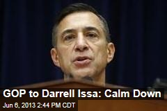 GOP to Darrell Issa: Calm Down