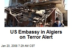 US Embassy in Algiers on Terror Alert