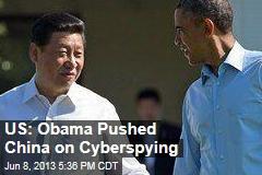 US: Obama Pushed China on Cyberspying