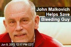 John Malkovich Helps Save Bleeding Guy