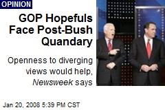 GOP Hopefuls Face Post-Bush Quandary