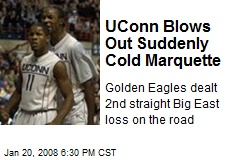 UConn Blows Out Suddenly Cold Marquette
