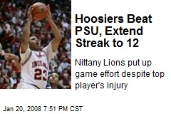 Hoosiers Beat PSU, Extend Streak to 12