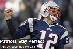 Patriots Stay Perfect