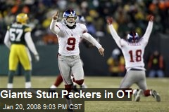 Giants Stun Packers in OT