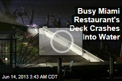 Busy Miami Restaurant's Deck Crashes into Water