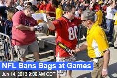 NFL Bans Bags at Games