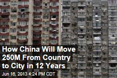 How China Will Move 250M From Country to City in 12 Years