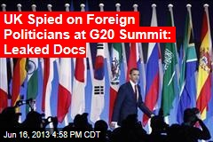UK Spied on Foreign Politicians at G20 Summit