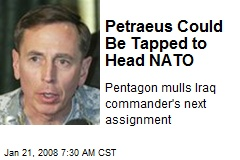 Petraeus Could Be Tapped to Head NATO