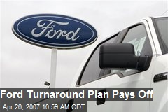 Ford Turnaround Plan Pays Off