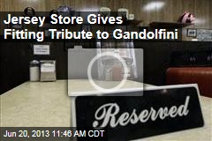 Jersey Store Gives Fitting Tribute to Gandolfini