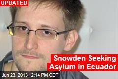 Ecuador Envoy at Moscow Airport to Meet Snowden