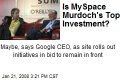 Is MySpace Murdoch's Top Investment?