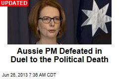 Aussie PM Challenges Rival to Duel to the Political Death