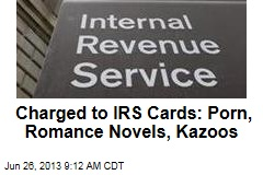 Charged to IRS Cards: Porn, Romance Novels, Kazoos