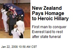 New Zealand Pays Homage to Heroic Hillary