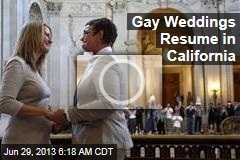 Gay Weddings Resume in California