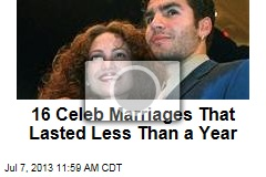 16 Celeb Marriages That Lasted Less Than a Year