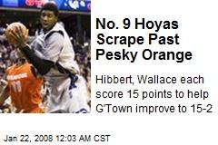 No. 9 Hoyas Scrape Past Pesky Orange