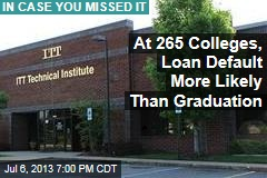 At 265 Colleges, Loan Default More Likely Than Graduation