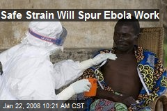 Safe Strain Will Spur Ebola Work