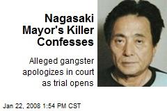 Nagasaki Mayor's Killer Confesses