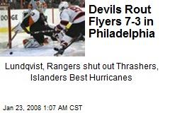 Devils Rout Flyers 7-3 in Philadelphia