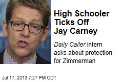High Schooler Ticks Off Jay Carney