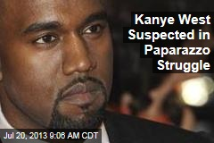Kanye West Suspected in Paparazzo Struggle
