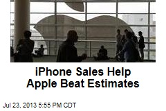 iPhone Sales Help Apple Beat Estimates