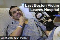 Last Boston Victim Leaves Hospital